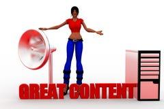 för kvinnor 3d innehåll utmärkt Arkivbilder