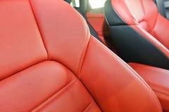 för läderhastighet för bil inomhus inre medel för sportar Royaltyfri Foto