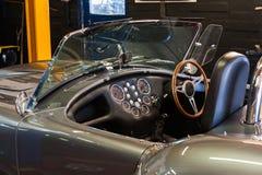 för läderhastighet för bil inomhus inre medel för sportar Arkivbild