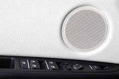 för läderhastighet för bil inomhus inre medel för sportar dörrar Kontrollera knäppas Royaltyfri Bild