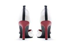 för läderpar för häl höga skor Royaltyfria Foton