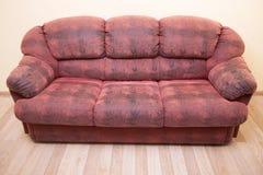 för läderred för bild 3d inre sofa Arkivbilder