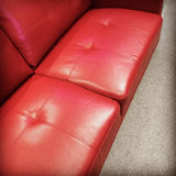 för läderred för bild 3d inre sofa Fotografering för Bildbyråer