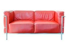 för läderred för bild 3d inre sofa Arkivfoton