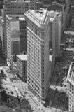 För lägenhetjärn för Nw York Manhattan byggnad Fotografering för Bildbyråer