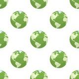 För lägenhetsymbol för grön jord sömlös modell Royaltyfri Foto