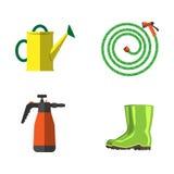För lägenhetuppsättning för trädgårds- utrustning vektor Royaltyfri Foto