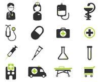 För läkarundersökning symboler enkelt Arkivfoton