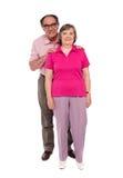 för längdförälskelse för åldriga par full stående Arkivfoton