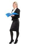 för längdstående för affärskvinna fullt le Royaltyfri Bild