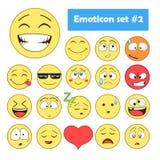 för lätt redigerbar set vektor emoticonsillustration för färger Royaltyfri Fotografi
