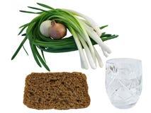 för lökrye för bröd mörk vodka Arkivfoton