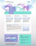 för lösningsvektor för affär desing website Arkivfoton