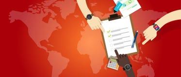För lagarbete för nöd- plan samarbete för förberedelse för ledning royaltyfri illustrationer