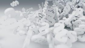 för lagavsnitt för tolkning som 3D symboler faller på golvet Royaltyfri Fotografi