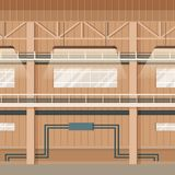 För lagerutrymme för industriell fabrik tom inre stock illustrationer