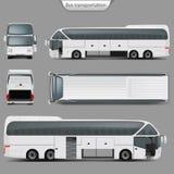 För lagledarebuss för vektor realistisk baksida för modell, bästa sikt stock illustrationer