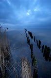 för lake natt sent - Fotografering för Bildbyråer