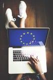 För landsflagga för europeisk union kultur Liberty Concept för nationalitet Arkivbild