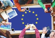 För landsflagga för europeisk union kultur Liberty Concept för nationalitet Royaltyfri Fotografi