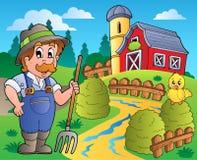 för landsred för 3 ladugård plats royaltyfri illustrationer