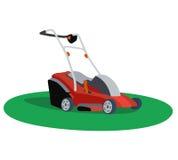 för lawngräsklippningsmaskin för bakgrund clipping isolerad white för bana Royaltyfri Illustrationer