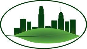 för leavesskyddsremsa för eco grön isolerad white för wax för tecken för form Royaltyfri Foto