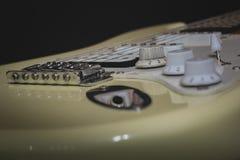 För ledning vaggar den elektriska gitarren solo, musik royaltyfri fotografi