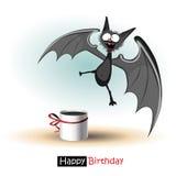 För leendeslagträ för lycklig födelsedag kort stock illustrationer
