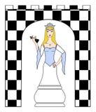 för lekdrottning för schack 3d white Arkivbild