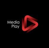 för leklogo för massmedia 3D design Royaltyfri Bild