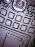 För lenseandroid för fokus mobil torkduk Arkivfoto