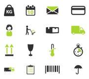 För leverans symboler enkelt Arkivfoto