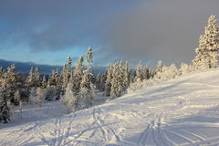 för liggande för lutningssnow utomhus vinter för sport Royaltyfri Foto