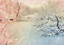 för ligganderussia för 33c januari ural vinter temperatur Den stiliserade illustrationen Royaltyfri Fotografi