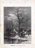 för ligganderussia för 33c januari ural vinter temperatur Teckning för Wimmer ` s Illustration av tidskriften Niva 1886 vektor illustrationer