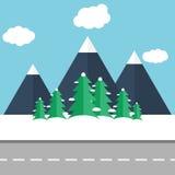 för ligganderussia för 33c januari ural vinter temperatur stock illustrationer