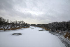 för ligganderussia för 33c januari ural vinter temperatur Royaltyfri Bild