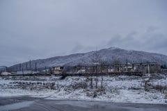 för ligganderussia för 33c januari ural vinter temperatur Arkivfoto