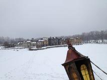 för ligganderussia för 33c januari ural vinter temperatur Läge av serien Peligrim till porten Arkivfoto