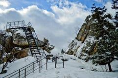 för ligganderussia för 33c januari ural vinter temperatur Nationalpark Taganay, Ryssland Royaltyfri Bild