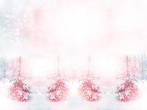 för ligganderussia för 33c januari ural vinter temperatur räknade snowtrees Royaltyfri Fotografi