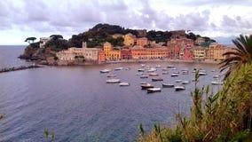 för liguria för destinationsitaly levante turist för sestri region arkivfoto