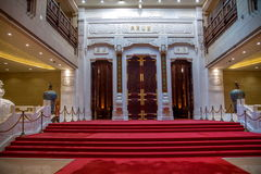 För Lingshan för sceniskt område för Lingshan Buddhaberg Hall för galleri för slott Vaticanen dörr Arkivbilder