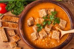 för linmitt för östlig mat libanesisk soup Arkivfoto