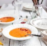 för linmitt för östlig mat libanesisk soup Royaltyfri Fotografi