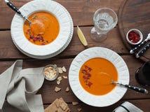 för linmitt för östlig mat libanesisk soup Arkivfoton