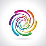 För livcirkulering för vektor färgrik symbol Royaltyfria Bilder