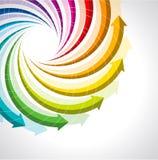För livcirkulering för vektor färgrik symbol Arkivbild
