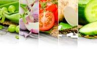 för livsstilmix för bakgrund sund grönsak Royaltyfria Foton